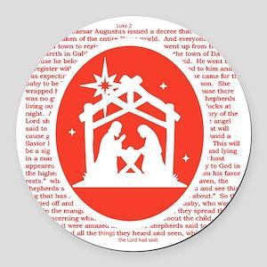 Christmas story Nativity Round Car Magnet