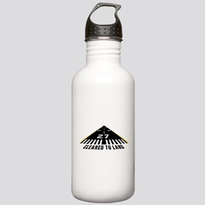 Aviation Cleared To Land Runway 27 Water Bottle