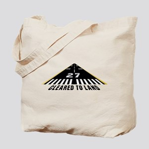 Aviation Cleared To Land Runway 27 Tote Bag