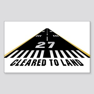 Aviation Cleared To Land Runway 27 Sticker