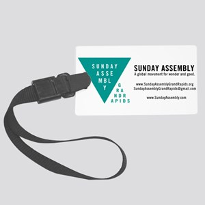 SAGR Logo Business Card 02 Large Luggage Tag