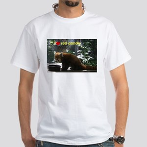 red panda White T-Shirt
