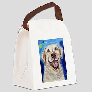 Happy Yellow Labrador Canvas Lunch Bag