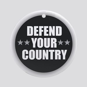 Defend Your Country Round Ornament