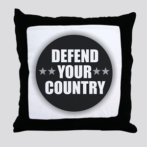 Defend Your Country Throw Pillow