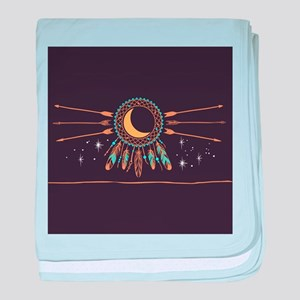 Dreamcatcher Moon baby blanket