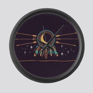 Dreamcatcher Moon Large Wall Clock