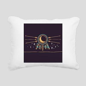 Dreamcatcher Moon Rectangular Canvas Pillow