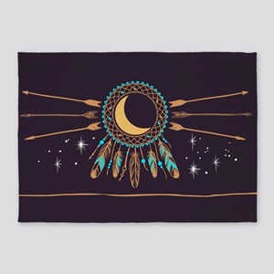 Dreamcatcher Moon 5'x7'Area Rug