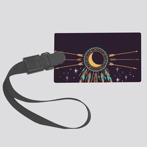 Dreamcatcher Moon Large Luggage Tag