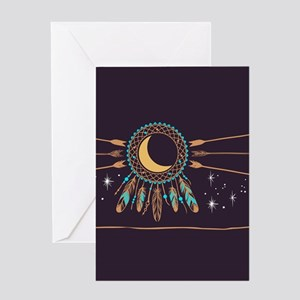 Dreamcatcher Moon Greeting Card