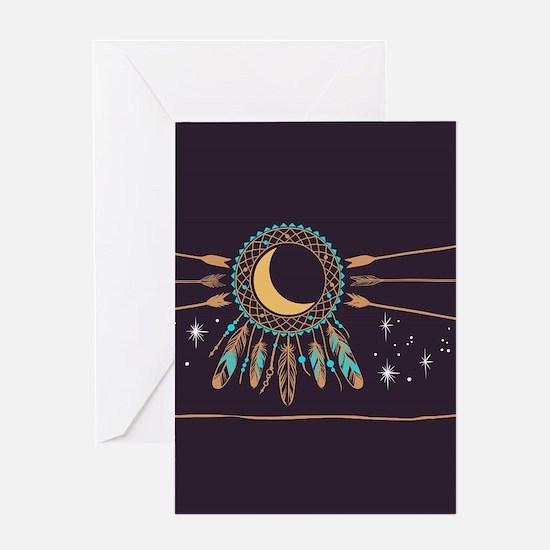 Dreamcatcher Moon Greeting Card