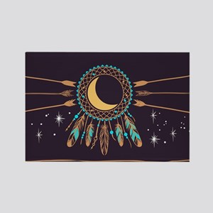 Dreamcatcher Moon Rectangle Magnet
