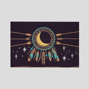 Dreamcatcher Moon Rectangle Magnet