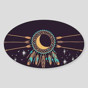 Dreamcatcher Moon Sticker (Oval)