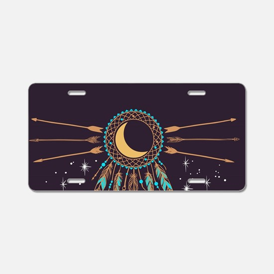 Dreamcatcher Moon Aluminum License Plate