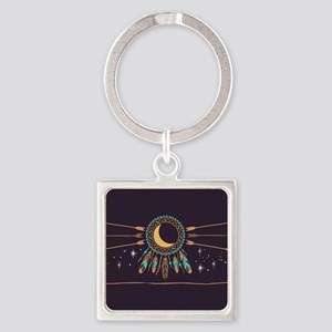 Dreamcatcher Moon Square Keychain