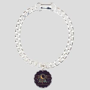 Dreamcatcher Moon Charm Bracelet, One Charm