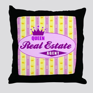 RETRO QUEEN (Purple) Throw Pillow
