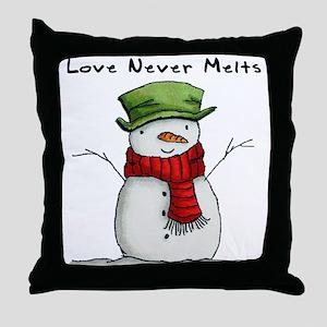 Love Never Melts Throw Pillow