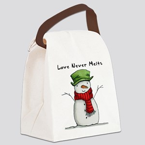 Love Never Melts Canvas Lunch Bag