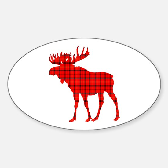 Moose: Rustic Red Plaid Decal