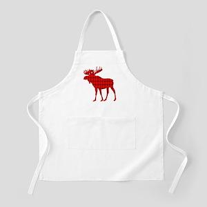 Moose: Rustic Red Plaid Apron