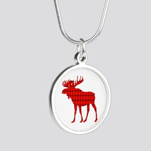 Moose: Rustic Red Plaid Necklaces