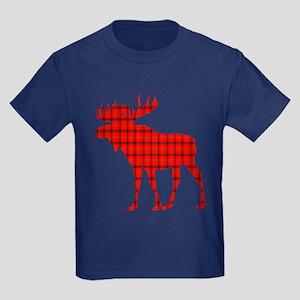Moose: Rustic Red Plaid T-Shirt