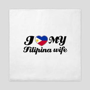 I love my filipina wife Queen Duvet