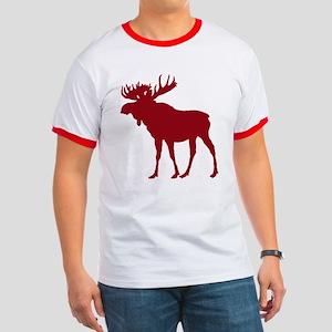 Moose: Rustic Red Ringer T