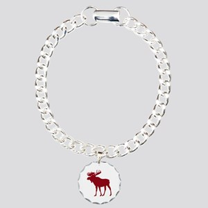 Moose: Rustic Red Charm Bracelet, One Charm