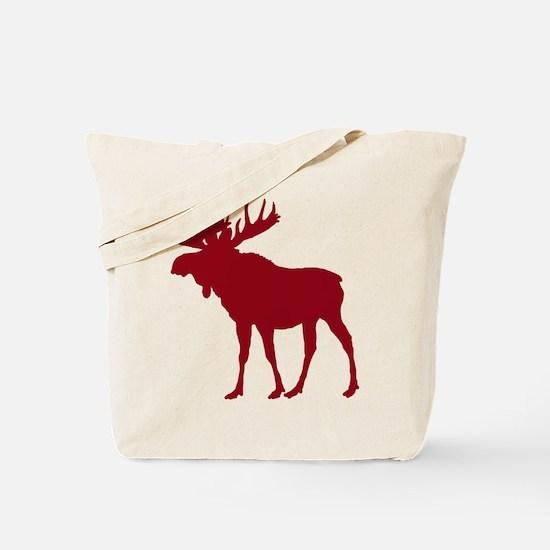 Moose: Rustic Red Tote Bag