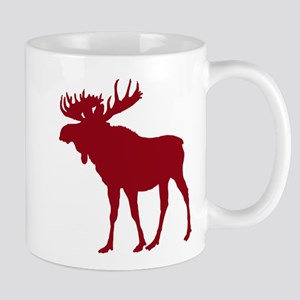 Moose: Rustic Red Mug