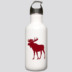 Moose: Rustic Red Stainless Water Bottle 1.0L