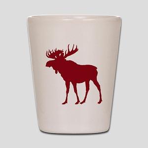 Moose: Rustic Red Shot Glass