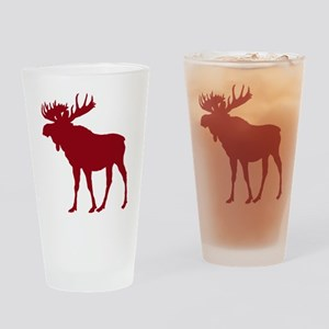 Moose: Rustic Red Drinking Glass