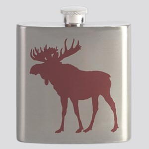 Moose: Rustic Red Flask