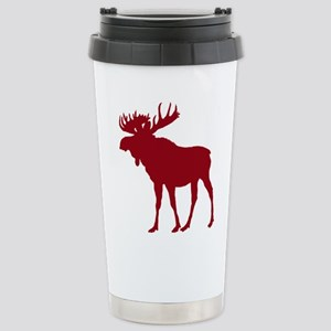 Moose: Rustic Red Stainless Steel Travel Mug