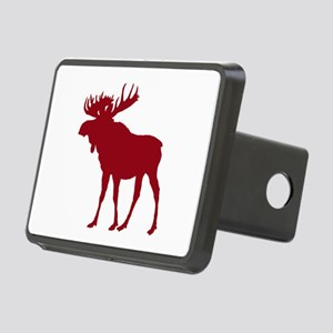 Moose: Rustic Red Rectangular Hitch Cover