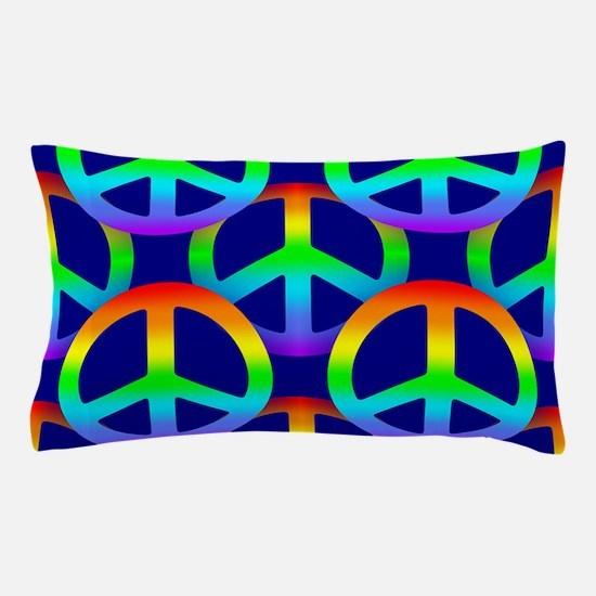Rainbow Peace Sign Pattern Pillow Case