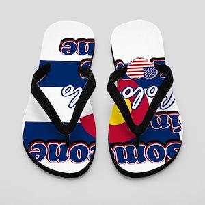Colorado flag designs Flip Flops