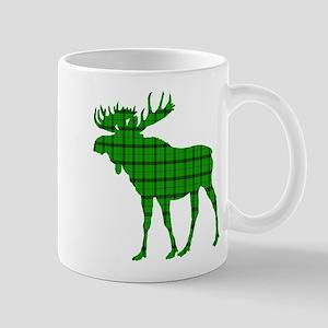 Moose: Pine Green Plaid Mug