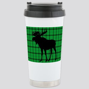 Moose: Rustic Green Pla Stainless Steel Travel Mug