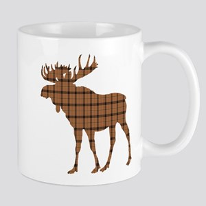 Moose: Brown Plaid Mug