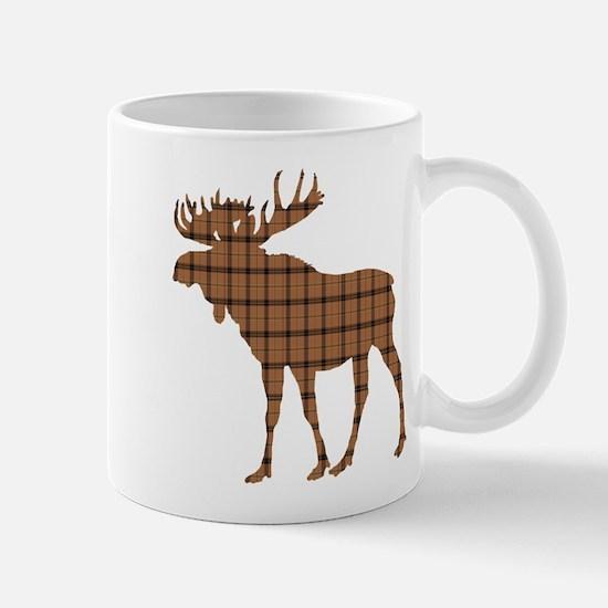 Moose: Brown Plaid Mug