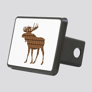 Moose: Brown Plaid Rectangular Hitch Cover