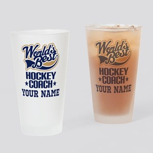 Hockey Coach Personalized Gift Drinking Glass