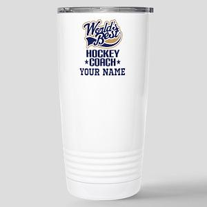 Hockey Coach Personalized Gift Travel Mug