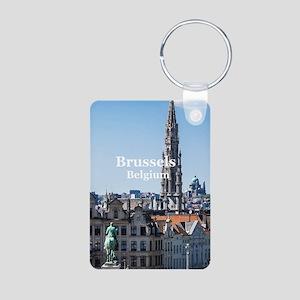 Brussels Aluminum Photo Keychain